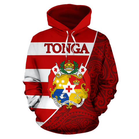 Tonga Hoodie Poly Coat Of Arms