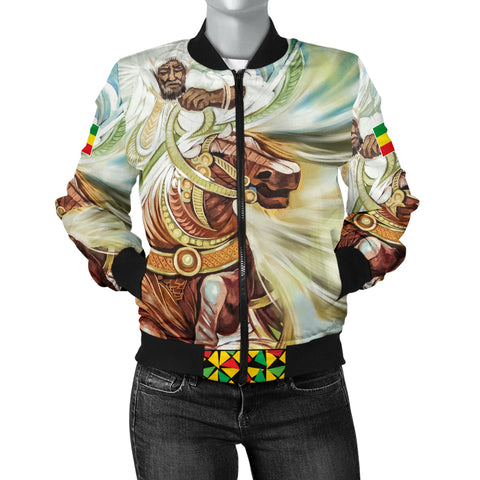 Image of Ethiopian Bomber Jacket, Proud Ethiopian Flag Women A10