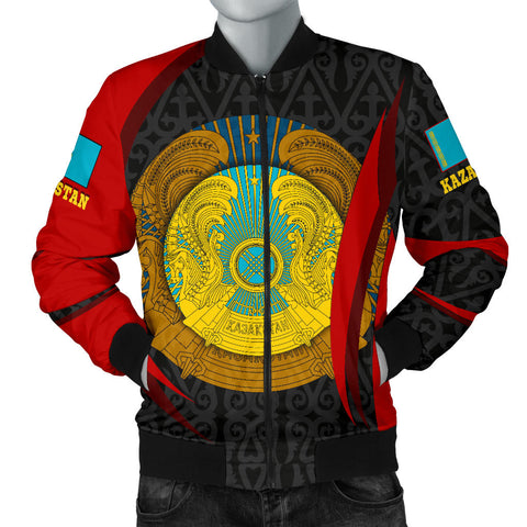 Image of Kazakhstan Bomber Jacket (Men) - Kazakhstan Spirit