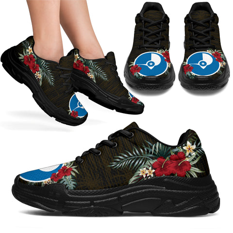 Image of Yap Hibiscus (Men/Women) Chunky Sneakers A7