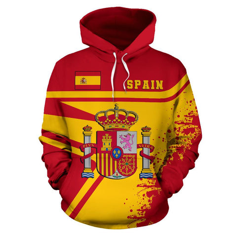 Image of Spain Hoodie Painting Style | 1sttheworld.com