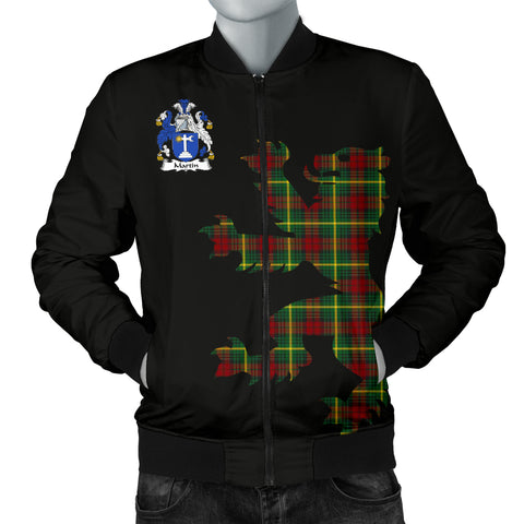 Image of MARTIN Tartan Lion And Thistle Bomber Jacket for Men