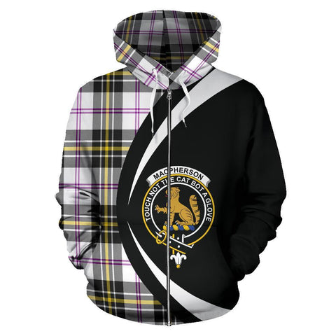 Image of MacPherson Dress Modern Tartan Circle Zip Hoodie