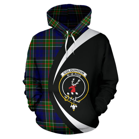 (Custom your text) Colquhoun Modern Tartan Circle Hoodie
