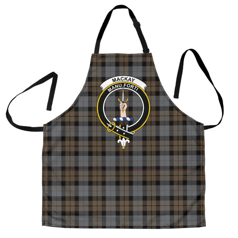Image of MacKay Weathered Tartan Clan Crest Apron HJ4