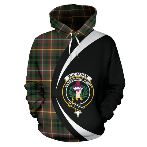 (Custom your text) Buchanan Hunting Tartan Circle Hoodie