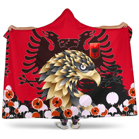 Albania Golden Eagle Hooded Blanket - Happy Flag Day - BN21