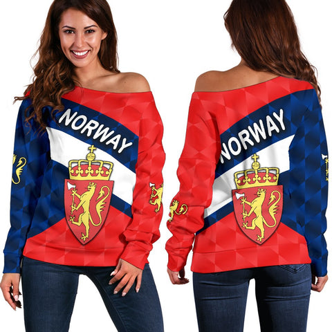 Image of Norway Women Off Shoulder Sweater Sporty Style K8