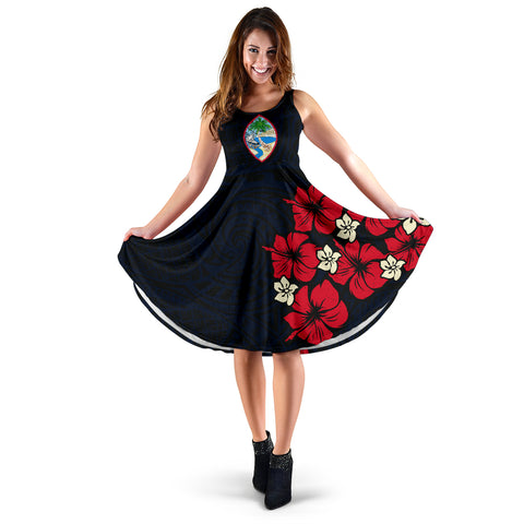 Guam Hibiscus Women's Dress A02