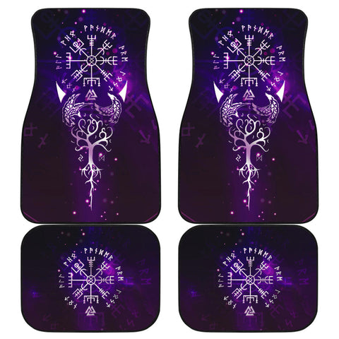 Image of Viking Compass Front And Back Car Mats (Set Of 4) | Love The World