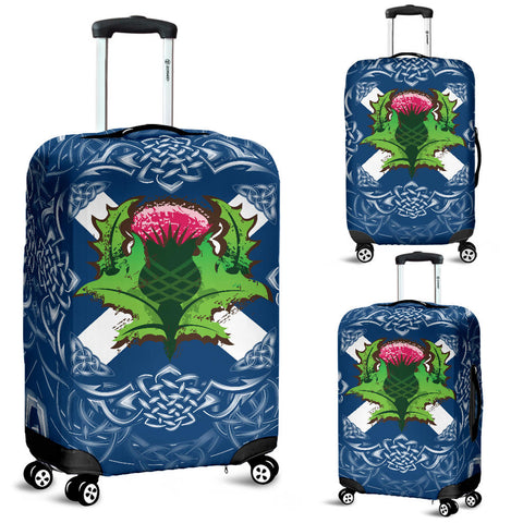 Scotland Luggage Covers - Saltire Thistle | 1sttheworld