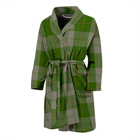 Cunningham Dress Green Dancers Tartan Men's Bath Robe