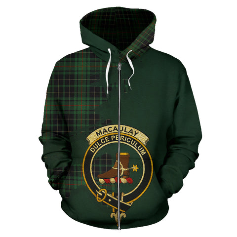 MacAulay Hunting Ancient  Royal All Over Hoodie (Zip)