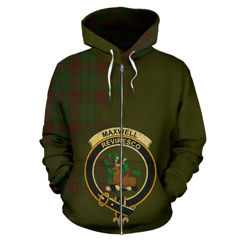 Maxwell Hunting  Royal All Over Hoodie (Zip)