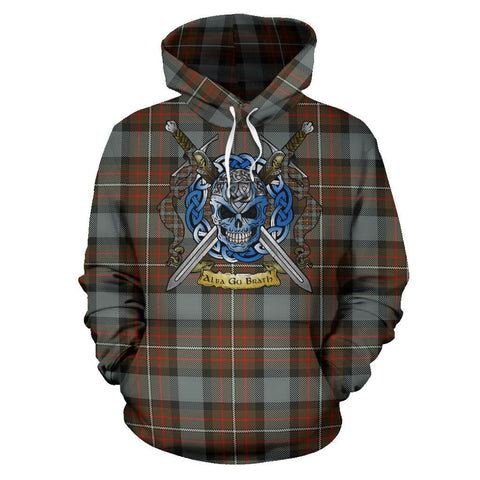 Fergusson Weathered Tartan Hoodie Celtic Scottish Warrior A79 | Over 500 Tartans | Clothing | Apaprel