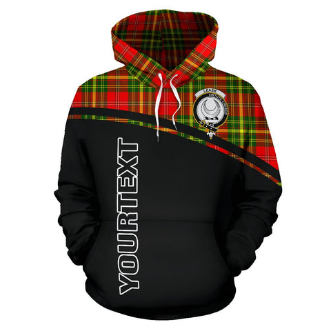 Image of Leask Tartan Custom Personalised Hoodie - Curve Style Front