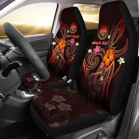 Image of Federated States of Micronesia Polynesian Personalised Car Seat Covers - Legend of FSM (Red)