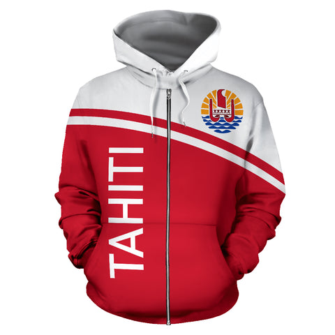 Tahiti All Over Zip-Up Hoodie - Curve Version - Bn04
