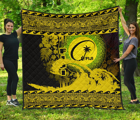 Image of Fiji Quilt Wave Yellow Design K62