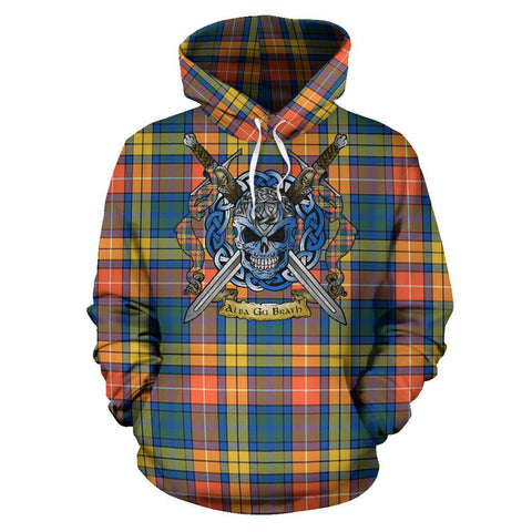 Image of Buchanan Ancient Tartan Hoodie Celtic Scottish Warrior A79 | Over 500 Tartans | Clothing | Apaprel
