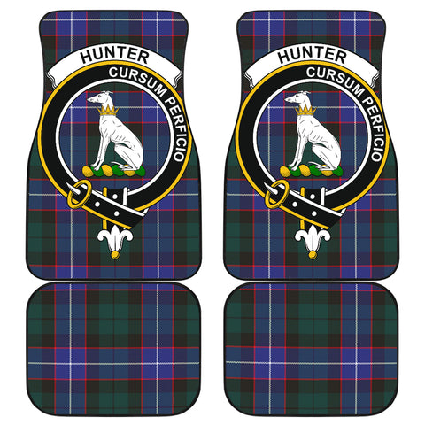 Hunter Modern Tartan Clan Badge Car Floor Mat 4 Pieces K7