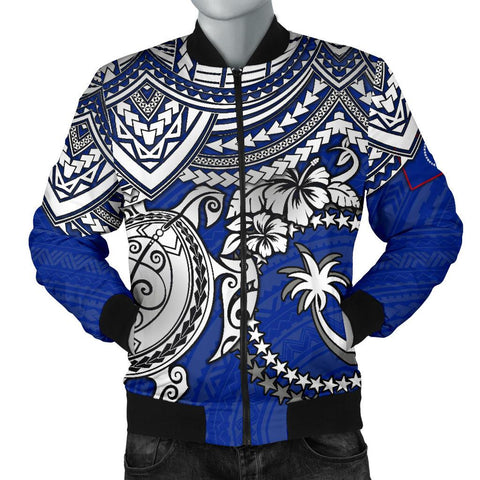 Chuuk Polynesian Bomber Jacket (Men) - White Turtle