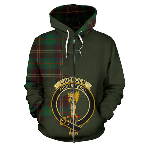 Chisholm Hunting Ancient  Royal All Over Hoodie (Zip)