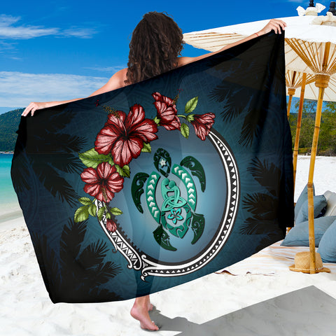 Kanaka Maoli (Hawaiian) Sarong - Polynesian Ohana Turtle Hibiscus Mother Son | Love The World