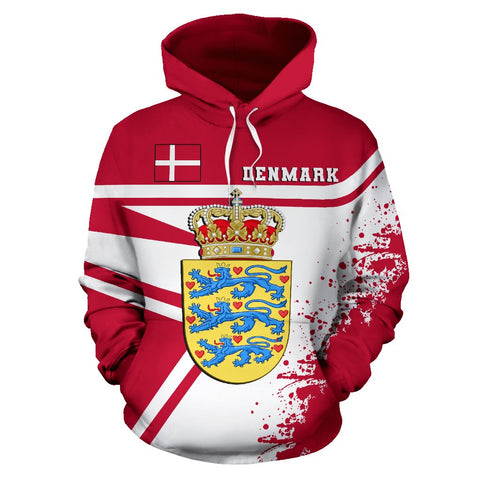 Image of Denmark Hoodie Painting Style | 1sttheworld.com
