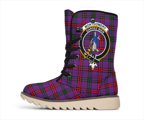 Image of Montgomery Ancient Tartan Clan Crest Polar Boots