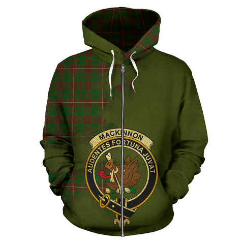 MacKinnon Hunting Modern  Royal All Over Hoodie (Zip)