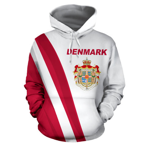 Denmark Hoodie Special Version - Hoodie Front - For Men and Women