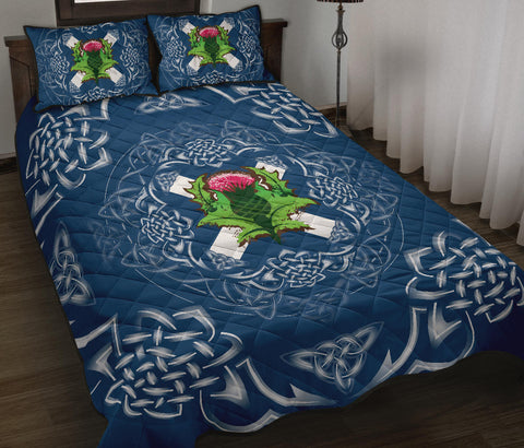 Image of Scotland Quilt Bed Set - Saltire Thistle