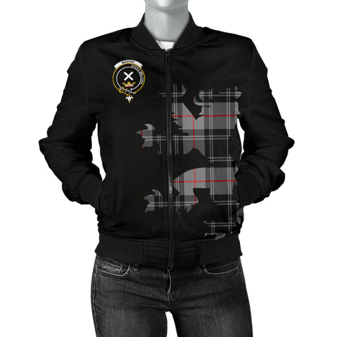 Moffat Tartan Lion And Thistle Bomber Jacket  for Women