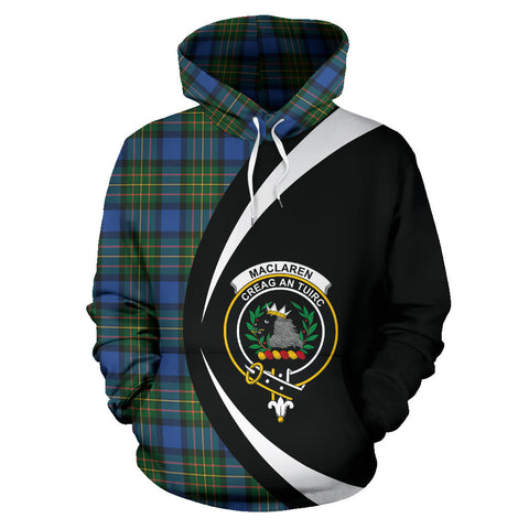 (Custom your text) MacLaren Ancient Tartan Circle Hoodie