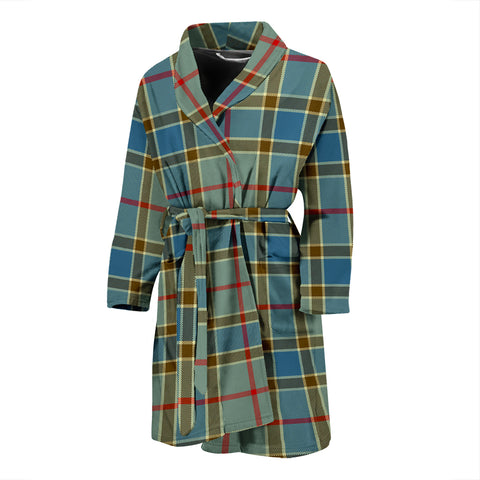 Balfour Blue Tartan Men's Bath Robe