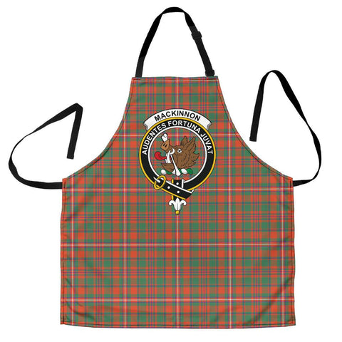 Image of MacKinnon Ancient Tartan Clan Crest Apron HJ4