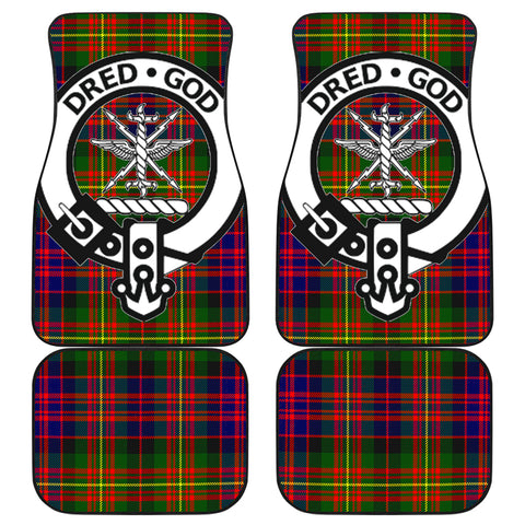 Carnegie Modern  Tartan Clan Badge Car Floor Mat 4 Pieces K7