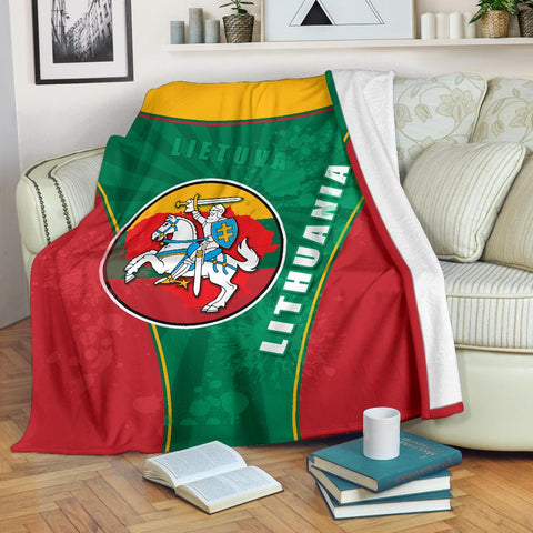 Image of Lithuania - Lietuva Premium Blanket Circle Stripes Flag Proud Version | 1sttheworld