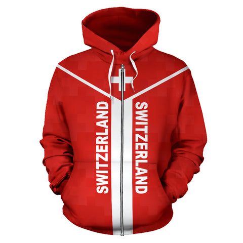 Switzerland Rising Zip Hoodie A6