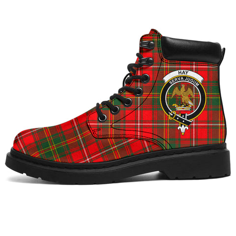 Hay Modern Tartan Clan Crest All-Season Boots HJ4