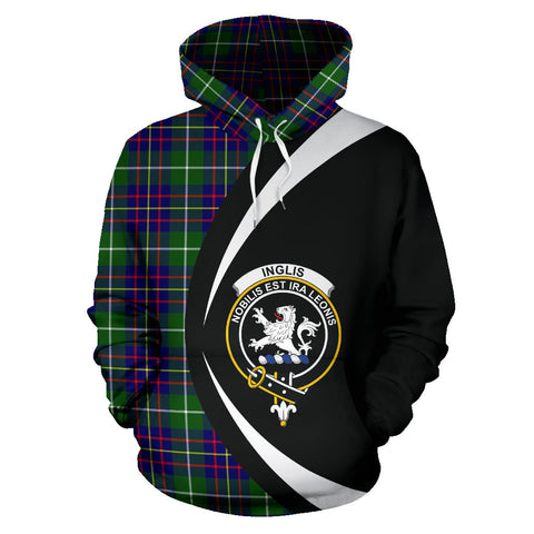 (Custom your text) Inglis Modern Tartan Circle Hoodie