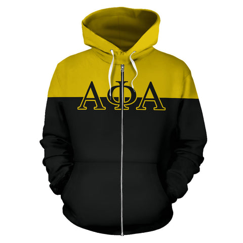 Alpha Phi Alpha All Over Zip-Up Hoodie - Sphinx - BN01