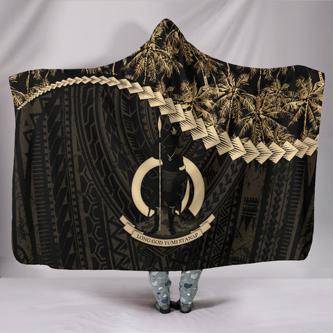 Vanuatu Hooded Blanket Golden Coconut A02