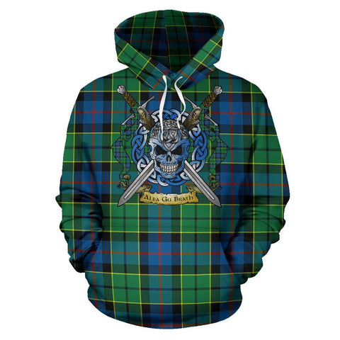 Forsyth Ancient Tartan Hoodie Celtic Scottish Warrior A79 | Over 500 Tartans | Clothing | Apaprel