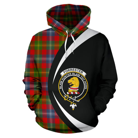 (Custom your text) Forrester Tartan Circle Hoodie