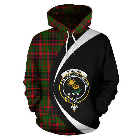 (Custom your text) Buchan Modern Tartan Circle Hoodie