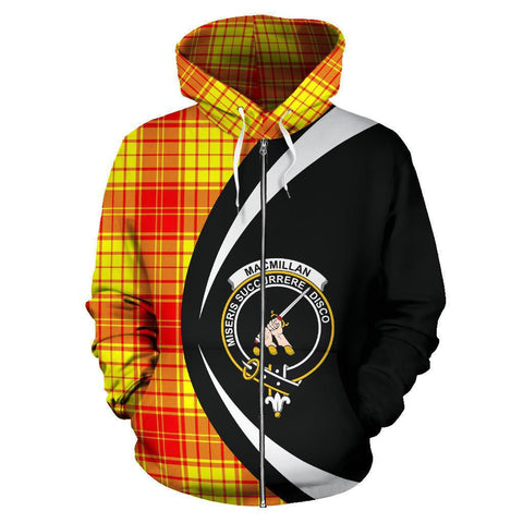 Image of MacMillan Clan Tartan Circle Zip Hoodie