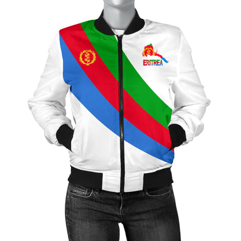 Image of Eritrea Women's Bomber Jacket Special Flag A7