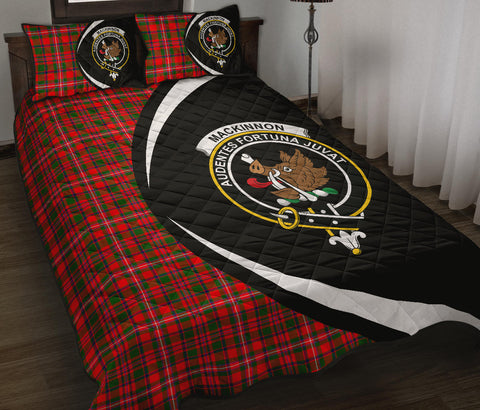MacKinnon Modern Tartan Quilt Bed Set Circle